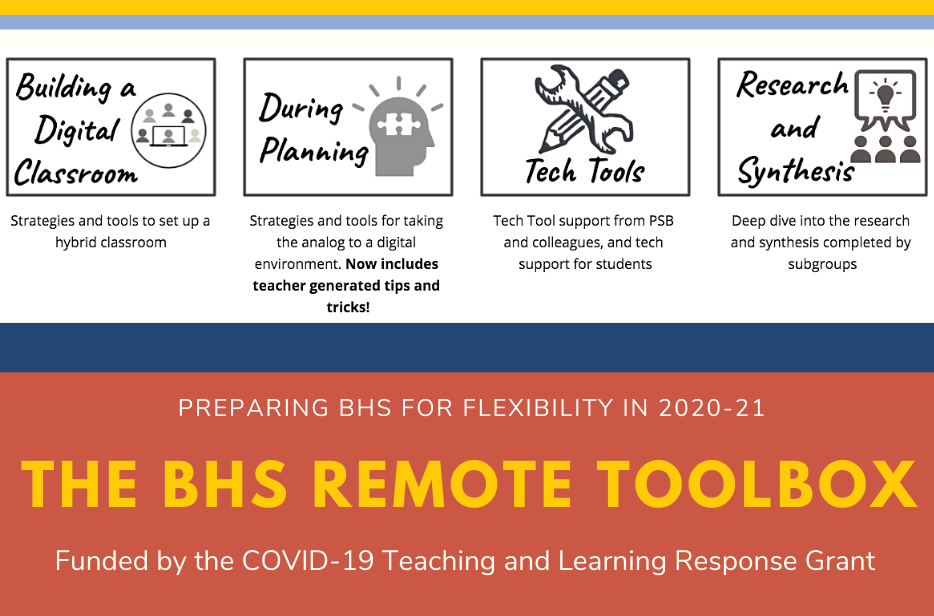 BHS Faculty Innovate to Launch the 2020-21 School Year